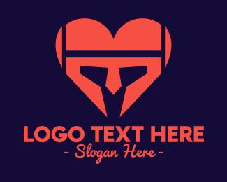 Helmet - Heart Helmet logo design
