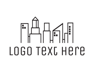 Commercial Real Estate - City Town logo design