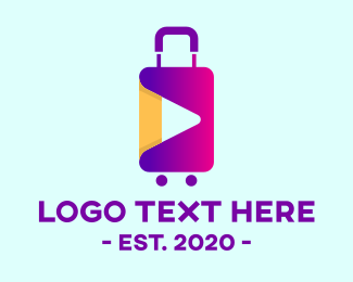 Travel Vlogger - Luggage Travel Vlog logo design
