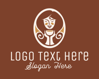 Tea - Caramel Lady Cafe logo design