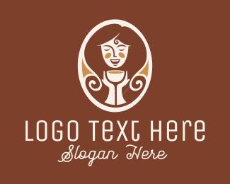 Coffee - Caramel Lady logo design
