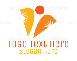 Company - Abstract Business Stars logo design