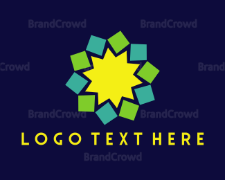 Popular - Geometric Flower logo design