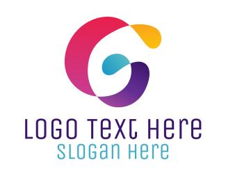 Printing Press - Artistic Ribbon G logo design