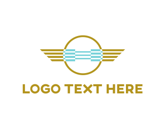 App - Aviation Emblem logo design