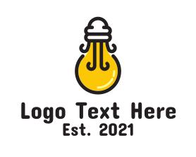 Light - Light Bulb Jellyfish logo design