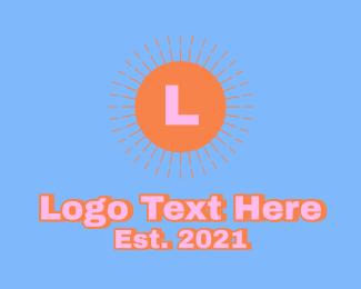 Trendy - Retro Sunburst Letter logo design