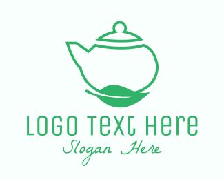 Herb - Organic Tea Teapot logo design