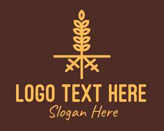 Oat - Golden Wheat Farm logo design