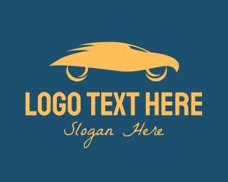 Sports Car Rental - Orange Eagle Car  logo design
