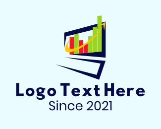 Stock Market - Online Stock Market Chart logo design