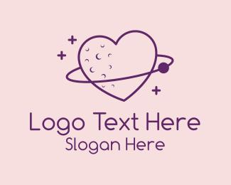Meteor - Love Planet Orbit  logo design