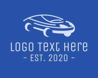 Drive - Blue Modern Automobile logo design