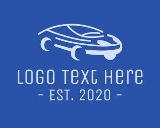 Rental - Blue Modern Automobile logo design
