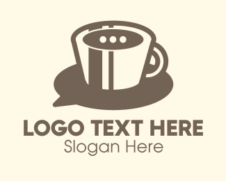 Coffee Cup - Coffee Chat logo design