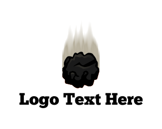 Meteorite - Black Meteor logo design