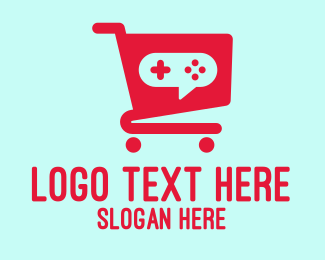 Games - Red Gaming Store Cart logo design