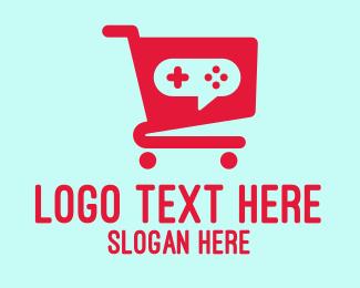Esports - Red Gaming Store Cart logo design