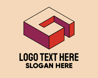 Pop Art - 3D Pixel Letter G logo design