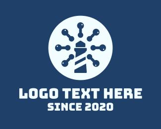 Watchtower - Blue Virus Watchtower logo design