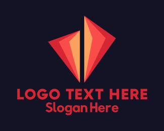 Gem - Fire Diamond logo design