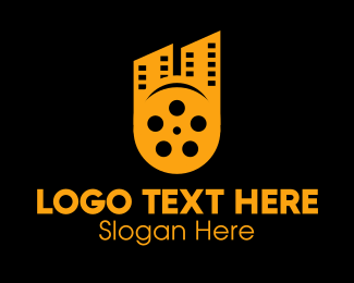 Cinema - Cinema Film Reel City logo design