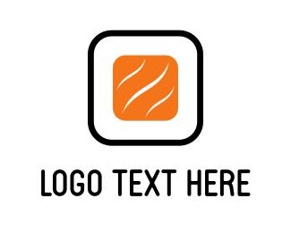 Salmon - Abstract Sushi logo design
