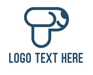Pet Store - Letter P Pet Puppy Dog logo design