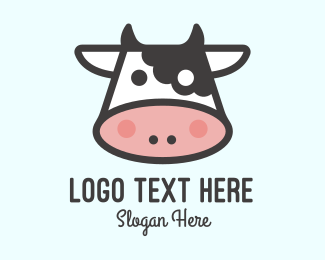 Meat - Cartoon Cow logo design