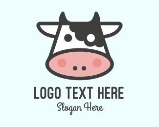 Livestock - Cartoon Cow logo design