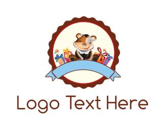 Present - Teddy Bear  logo design