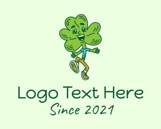 Saint Patrick - Happy Shamrock Clover  logo design