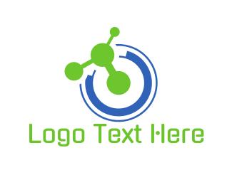 Molecule - Tech Atom logo design