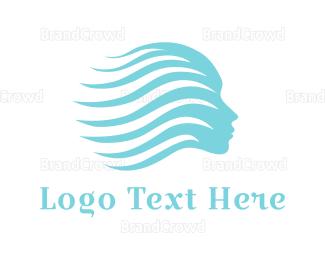 Flow - Water Woman logo design