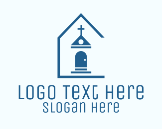 Catholic - Blue Catholic Chapel logo design