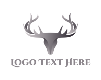 Hunting Equipment - Chrome Deer logo design