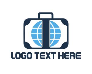 Suitcase - Travel Luggage logo design