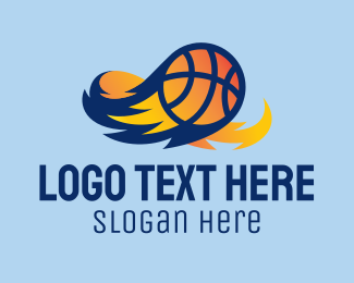 Flaming - Flaming Basketball Comet  logo design