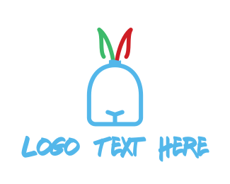 Hare - Rabbit Face logo design