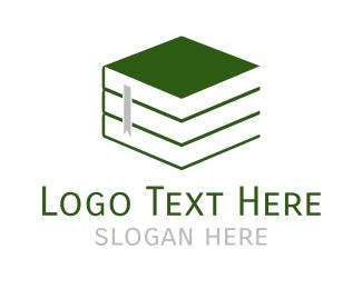 Author - Green Books logo design