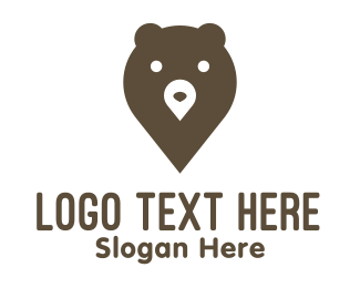 Brown Bear - Bear Pin logo design