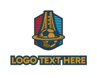 Football - Soccer Football Sport Emblem logo design