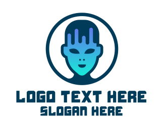 Software Development - Frankenstein Head logo design