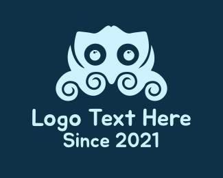 Oceanic - Blue Little Octupus logo design
