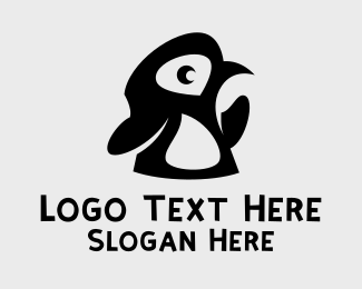 Arctic - Black Baby Penguin logo design