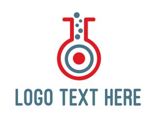 Pharmacist - Target Test Tube logo design