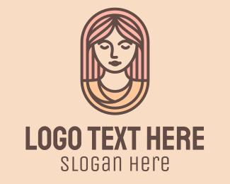 Hairdresser - Female Goddess Beauty logo design