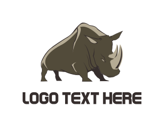 Powerful - Wild Rhino logo design