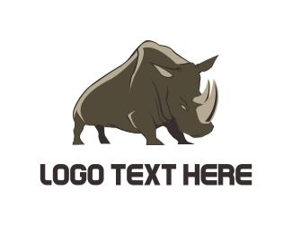 Rhinoceros - Wild Rhino logo design