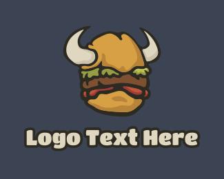 Horn - Burger Horn logo design